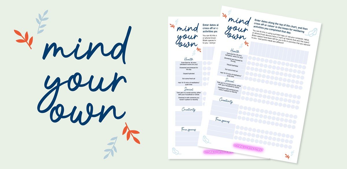 picture of the Mind Your Own wellbeing ticksheet